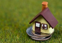 Small house on coins